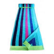 Beach Towel - Multistripe Blue