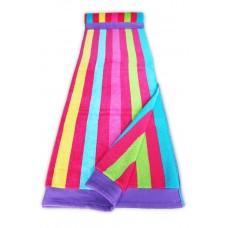 Beach Towel - Multistripe Pink
