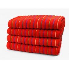Stripe Beach Towel / Bath Sheet Red